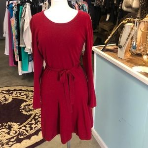 Peck & Peck Red Cashmere Dress Size Large